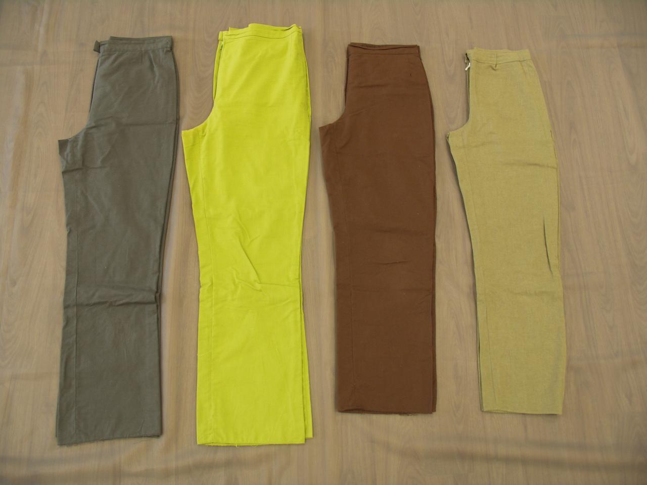 Pantalons vert, kaki, jaune et marron (x4) - 10/12 ans