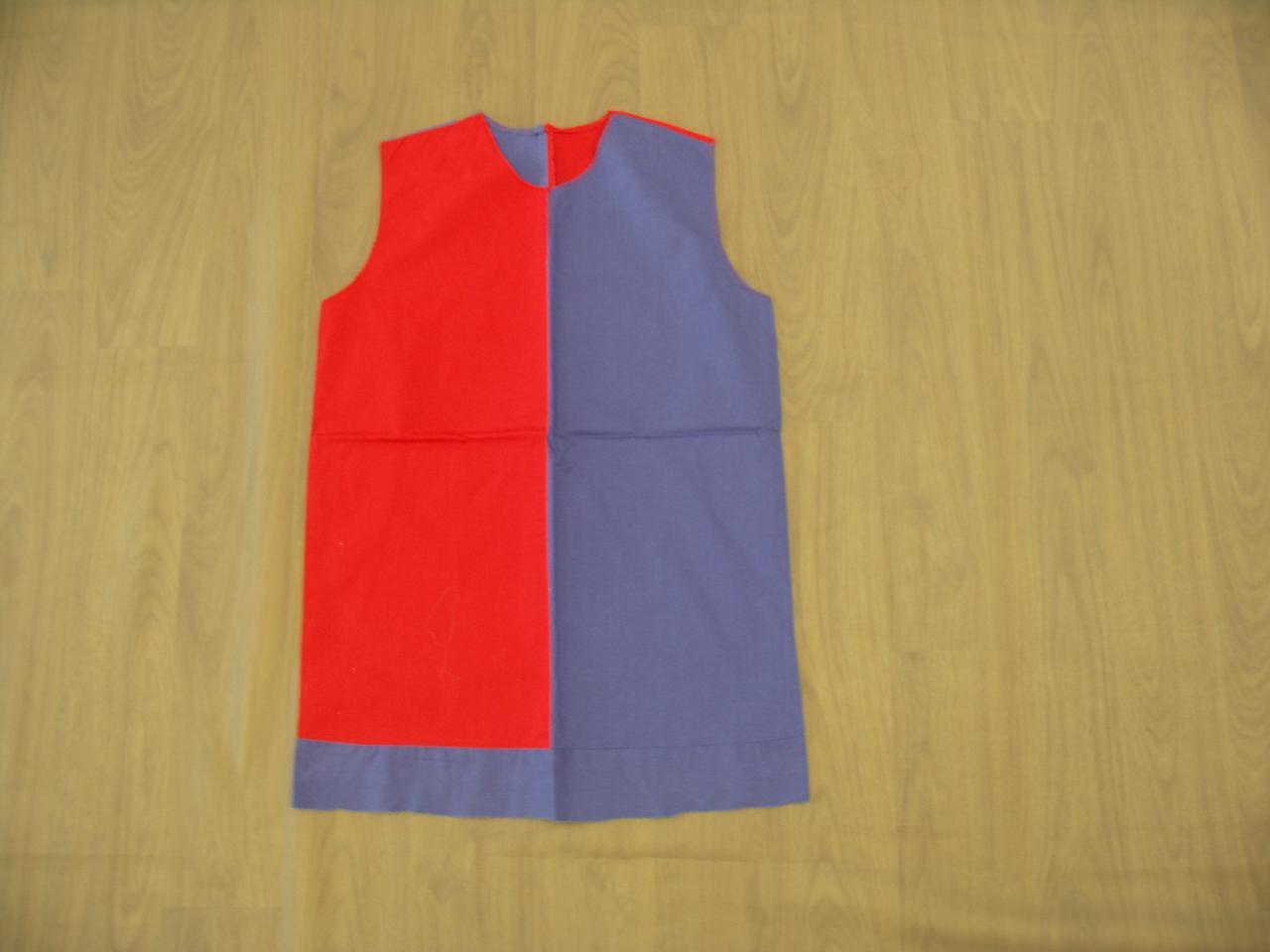 Hauts sans manches bicolore rouges et bleu/violet - 8/10ans