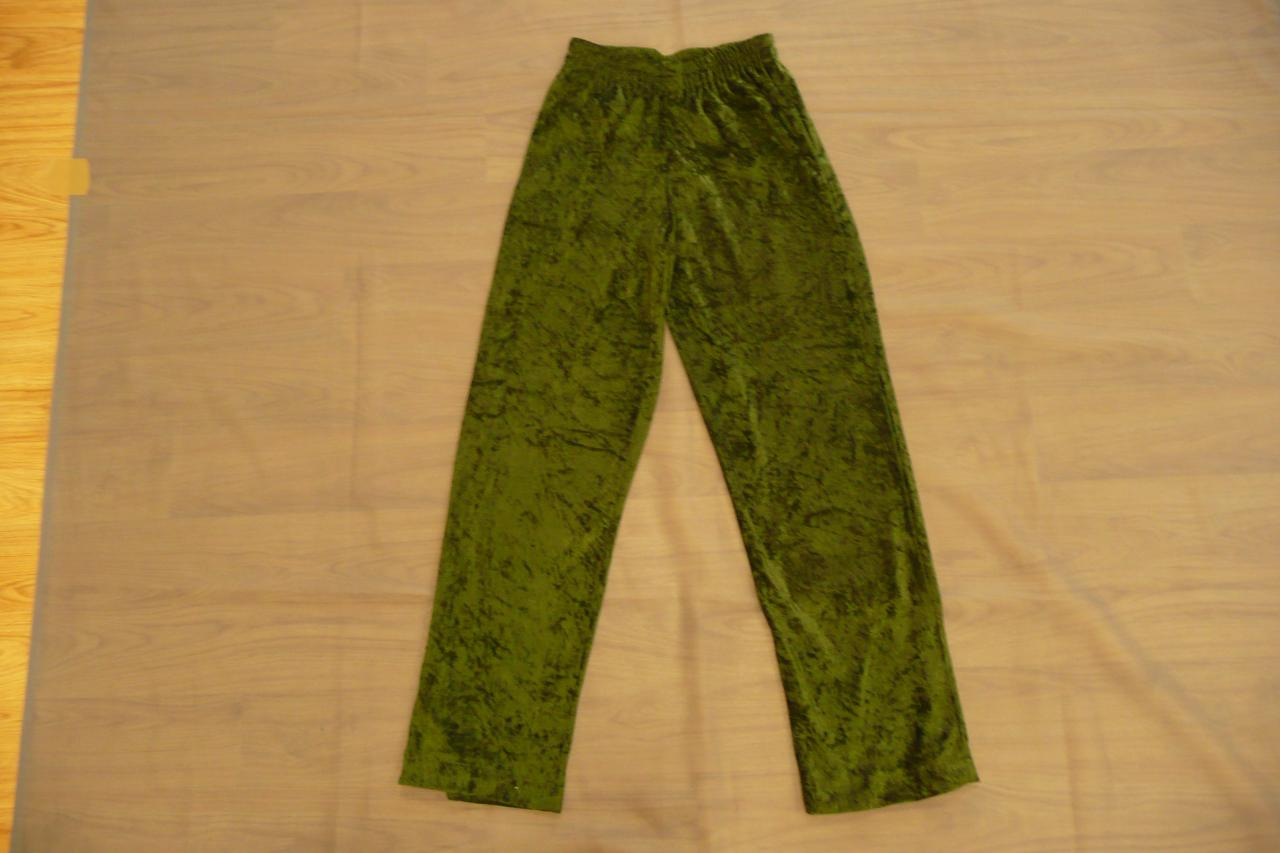 Pantalons verts à velours (x12) - 12/14 ans