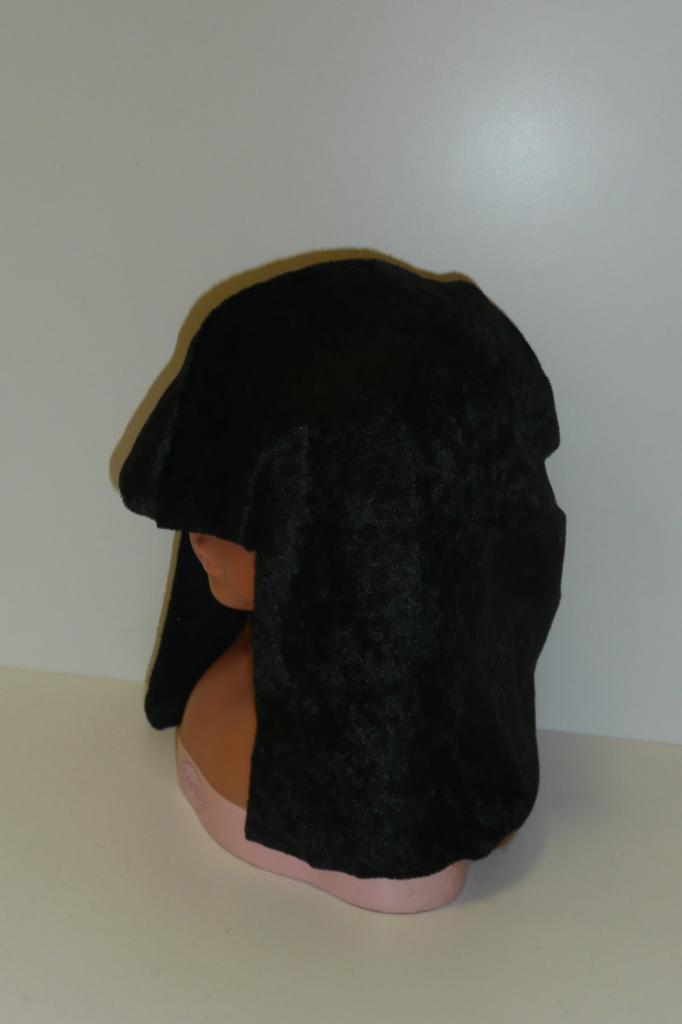 Tissu perruque noire velours